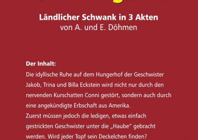 """Inhalt vom Stück """"Es ist was los auf dem Hungerhof"""""""