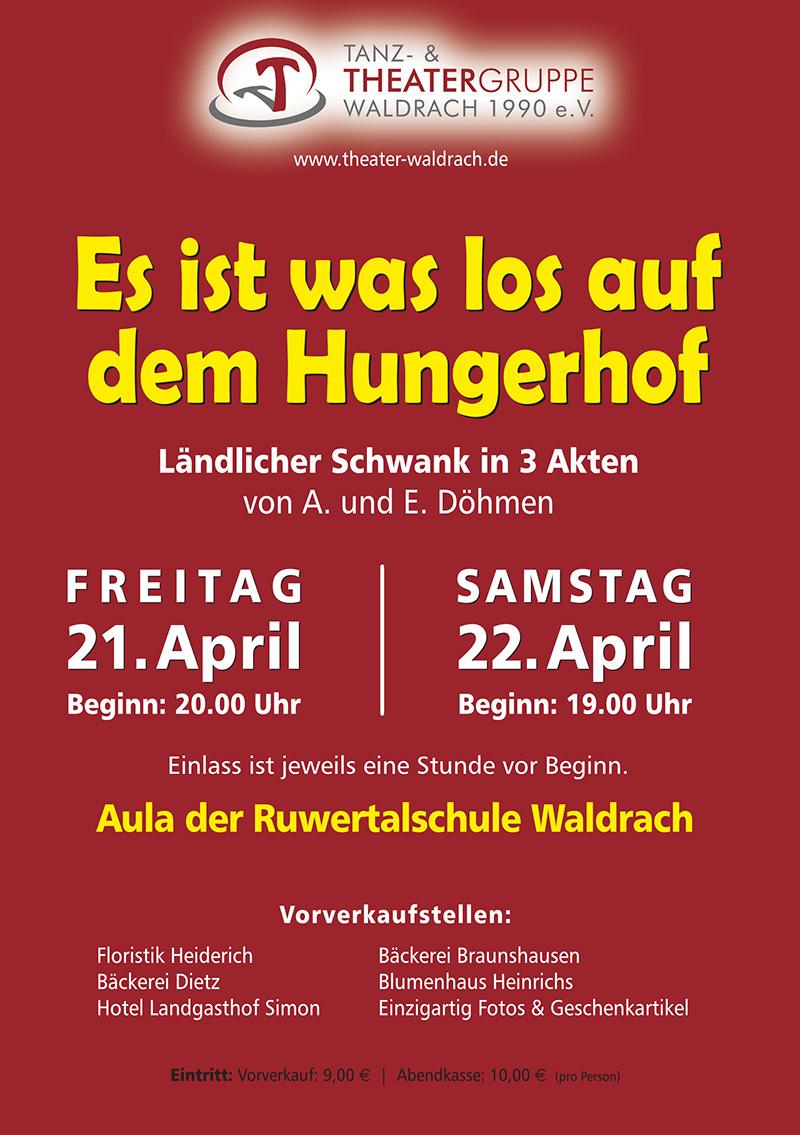Plakat: Es ist was los auf dem Hungerhof